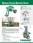 Manual Machine Stand Spec Sheet