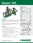 Acrobat 315 Spec Sheet