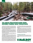54-Inch Polyethylene Pipe Offers Three-Way Solution