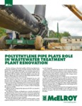 Polyethylene Pipe Plays Role in Wastewater Treatment Plant Renovation