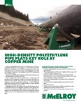 High-Density Polyethylene Pipe Plays Key Role at Highland Valley Copper Mine
