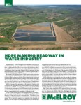 hdpe making headway in water industry