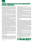 hdpe chosen for government pilot project