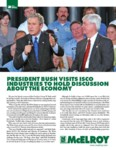 president bush visits isco industries to hold discussion about the economy