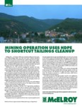 mining operation uses hdpe to shortcut tailings cleanup