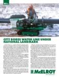 city bores water line under national landmark