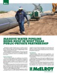 massive water pipeline being built in west texas public private partnership
