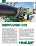 McElroy TracStar 1200 Meeting Industry Needs