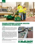 fused piping system solves sinkhole dilemma