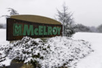 McElroy sign in the snow