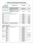 2020 PPP Price Sheet