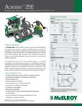 Acrobat 250 Spec Sheet - SPANISH
